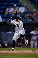 Staten Island Yankees Andres Chaparro (30) at bat during a NY-Penn League game against the Aberdeen Ironbirds on August 22, 2019 at Richmond County Bank Ballpark in Staten Island, New York.  Aberdeen defeated Staten Island 4-1 in a rain shortened game.  (Mike Janes/Four Seam Images)