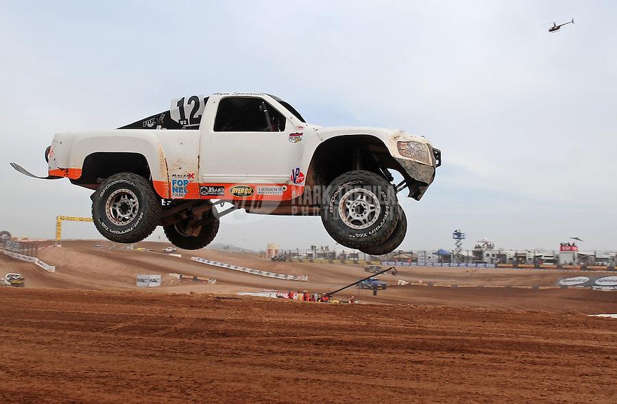 Mar. 19, 2011; Chandler, AZ, USA;  LOORRS pro two driver Myan Spaccarelli during round one at Firebird International Raceway. Mandatory Credit: Mark J. Rebilas-US PRESSWIRE