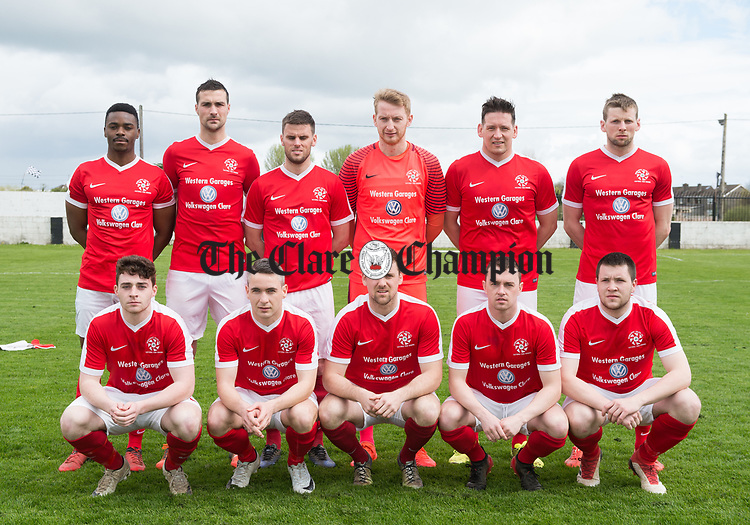 The Newmarket Celtic team which was beaten by  Janesboro in the Munster Junior Cup semi-final at Limerick. Photograph by John Kelly.