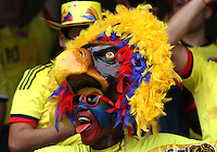 BARRANQUILLA  -COLOMBIA , 17 ,NOVIEMBRE-2015. Hinchas de Colombia antes del encuentro con  Argentina    por la fecha 4 de las eliminatorias para el mundial de Rusia 2018 jugado en el estadio Metropolita Roberto Meléndez./ Fans  of Colombia fights cheer thier team before match against  of Argentina   match between Colombia and Argentina as part of FIFA 2018 World Cup Qualifier fourt date at Metropolitano Roberto Melendez Stadium on November 17, 2015 in Barranquilla, Colombia. Photo: VizzorImage / Felipe Caicedo / Staff