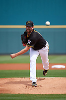 Pittsburgh Pirates pitcher Jon Niese (18) delivers a pitch during a Spring Training game against the Toronto Blue Jays  on March 3, 2016 at McKechnie Field in Bradenton, Florida.  Toronto defeated Pittsburgh 10-8.  (Mike Janes/Four Seam Images)