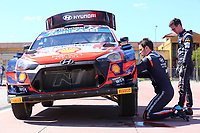 23rd May 2021; Felgueiras, Porto, Portugal; WRC Rally of Portugal, stages SS16-SS20;  Thierry Neuville-Hyundai i20WRC