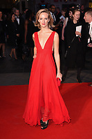 """Charlotte Carroll<br /> arriving for the London Film Festival 2017 screening of """"Breathe"""" at the Odeon Leicester Square, London<br /> <br /> <br /> ©Ash Knotek  D3318  04/10/2017"""