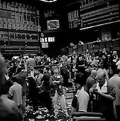 Chicago, Illinois<br /> March 28, 2008 <br /> <br /> Chicago Mercantile Exchange - traders on the open outcry S&P 500 pit as markets continue to swing at 100+ points a day up or down. The mortgage crisis is being played out on Wall Street and world's financial markets.