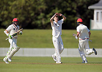 Ben Sears during Day 1 of Round Two Plunket Shield cricket match between Canterbury and Wellington at Hagley Oval in Christchurch, New Zealand on Wednesday, 28 October 2020. Photo: Martin Hunter / lintottphoto.co.nz