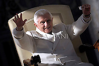 Pope Benedict XVI during his weekly general audience in St. Peter square at the Vatican, Wednesday. 16 november, 2011