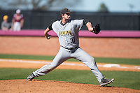 Kennesaw State Owls relief pitcher Nathan Harsh (37) in action against the Winthrop Eagles at the Winthrop Ballpark on March 15, 2015 in Rock Hill, South Carolina.  The Eagles defeated the Owls 11-4.  (Brian Westerholt/Four Seam Images)