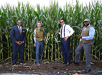 DYERSVILLE, IOWA - AUGUST 12: Fox MLB Pregame broadcasters Frank Thomas, Kevin Burkhardt, Alex Rodriguez, and David Ortiz at the Fox broadcast of the MLB Field of Dreams game on August 12, 2021 in Dyersville, Iowa. (Photo by Frank Micelotta/Fox Sports/PictureGroup)