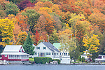 Fall foliage at Joe's Pond in Danville, VT, USA