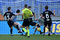 Luis Alberto of SS Lazio scores the goal of 1-0 during the Serie A football match between SS Lazio and UC Sampdoria at Olimpico Stadium in Roma (Italy), February 20th, 2021. Photo Antonietta Baldassarre / Insidefoto