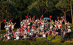 supporters cheer on the 18th hole during the Day 4 of the LPGA Sunrise Taiwan Championship on at Sunrise Golf Course on October 23, 2011 in Taoyuan, Taiwan. Photo by Victor Fraile / The Power of Sport Images