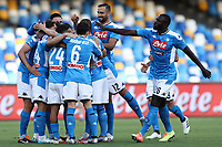 Dries Mertens of Napoli celebrates with team mates after scoring a goal<br /> during the Serie A football match between SSC  Napoli and SPAL at stadio San Paolo in Naples ( Italy ), June 28th, 2020. Play resumes behind closed doors following the outbreak of the coronavirus disease. <br /> Photo Cesare Purini / Insidefoto