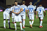 Achraf Hakimi of FC Internazionale celebrates after scoring the goal of 0-2 during the Serie A football match between FC Crotone and FC Internazionale at stadio Ezio Scida in Crotone (Italy), May 1st, 2021. Photo Daniele Buffa / Image Sport / Insidefoto