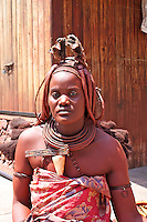 Himba Woman in Swakopmund, Namibia