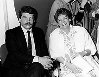 Montreal (QC) CANADA file photo -<br /> <br /> <br /> -jean dore and wife