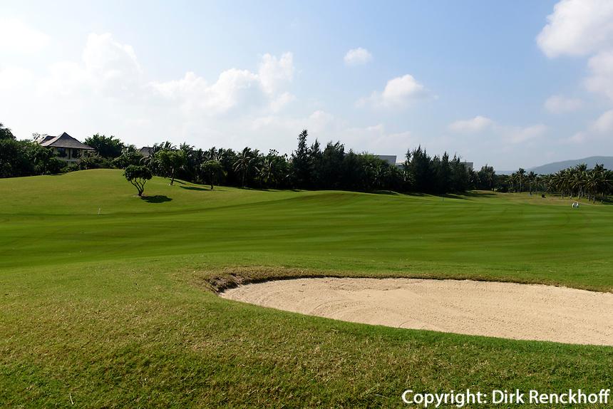 Yalong Bay Golfplatz bei Sanya auf der Insel Hainan, China<br /> Yalong Bay Golfplatz near Sanya, Hainan island, China