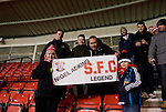 Southampton 0 Everton 0, 23/01/2013. St Mary's, Premier League. A message of support for former manager Nigel Adkins. Photo by Simon Gill