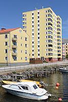 Wohnblocks am Stumholmssundet in Karlskrona, Provinz Blekinge, Schweden, Europa, UNESCO-Weltkulturerbe<br /> apartment building at Sturmholmssundet in Karlskrona, Province Blekinge, Sweden