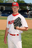 June 30th, 2007:  Brandon Garner of the Batavia Muckdogs, Short-Season Class-A affiliate of the St. Louis Cardinals at Dwyer Stadium in Batavia, NY.  Photo by:  Mike Janes/Four Seam Images