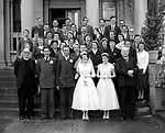A happy wdding couple pictured n the steps of the Great Southern Hotel, Killarney in 1956..Photo: macmonagle.com archive
