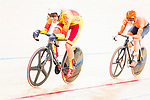 Albert Torres Barcelo of Spain and Roy Eefting of the Netherlands compete in the Men's Omnium Finals during the 2017 UCI Track Cycling World Championships on 15 April 2017, in Hong Kong Velodrome, Hong Kong, China. Photo by Marcio Rodrigo Machado / Power Sport Images