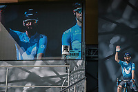 Alejandro Valverde (ESP/Team Movistar)  pre race team presentation. <br /> <br /> 82nd La Flèche Wallonne 2018<br /> 1 Day Race: Seraing - Huy (198,5km)