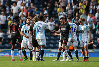 Players from both teams shake hands at the end of the match<br /> <br /> Photographer Andrew Kearns/CameraSport<br /> <br /> The EFL Sky Bet Championship - Blackburn Rovers v Bolton Wanderers - Monday 22nd April 2019 - Ewood Park - Blackburn<br /> <br /> World Copyright © 2019 CameraSport. All rights reserved. 43 Linden Ave. Countesthorpe. Leicester. England. LE8 5PG - Tel: +44 (0) 116 277 4147 - admin@camerasport.com - www.camerasport.com