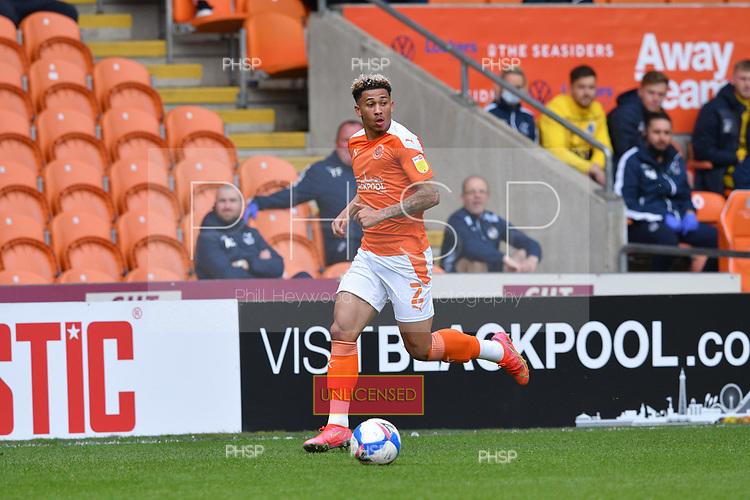 09/05/2021 Sky Bet League 1 Blackpool v Bristol Rovers  <br /> <br /> Jordan Gabriel in action for Blackpool