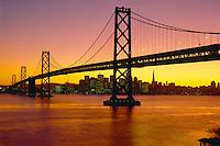 San Francisco-Oakland Bay Bridge<br />   and San Francisco from Yerba Buena Island<br /> San Francisco Bay<br /> California