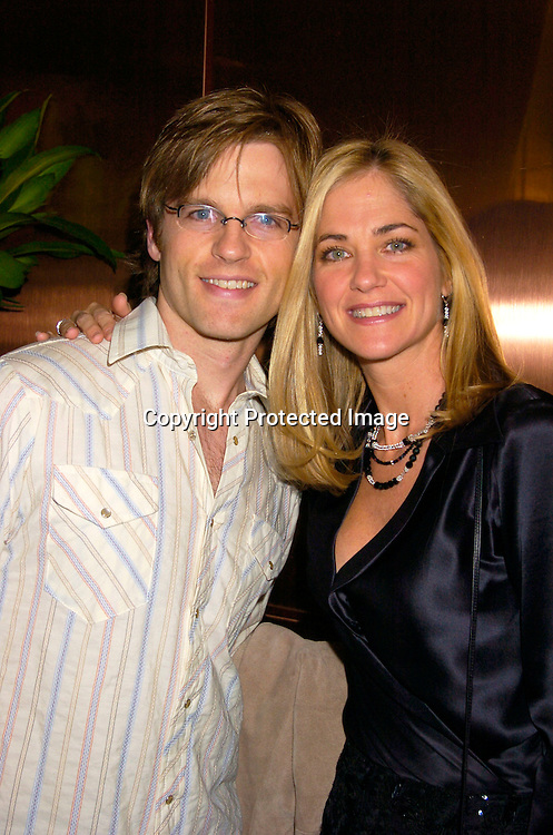 Trevor St John and Kassie DePaiva ..at the 12th Annual Gala for The League for the Hard of Hearing called Feast With Famous Faces on October 18, 2004 at JP Morgan Chase. ..Photo by Robin Platzer, Twin Images