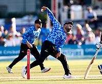 Rashid Kahn bowls for Sussex during Kent Spitfires vs Sussex Sharks, Vitality Blast T20 Cricket at The Spitfire Ground on 18th July 2021