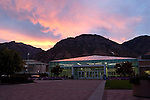 0508-58 GCS Buildings..August 22, 2005..Sunrise with HBLL..Photo by Jaren Wilkey/BYU..Copyright BYU Photo 2005.All Rights Reserved.photo@byu.edu   (801)422-7322