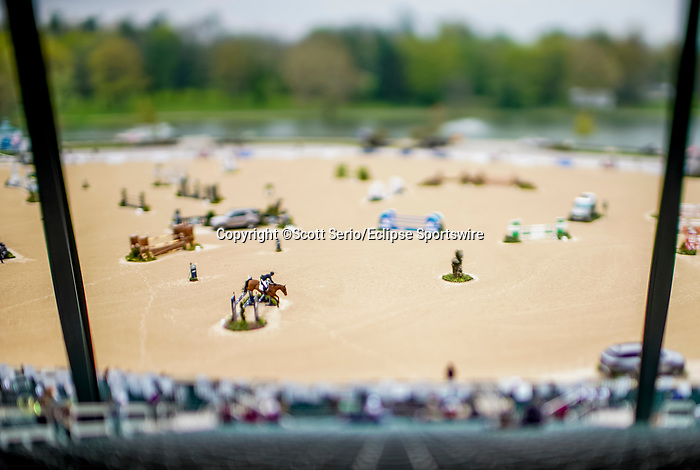 April 25, 2021: Scenes from the Stadium Jumping Finals without fans at the Kentucky Horse Park in Lexington, Kentucky. Scott Serio/Eclipse Sportswire/CSM
