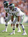 Philadelphia Eagles Eric Allen (21) during a game from his 1988 season with the Philadelphia Eagles.  Eric Allen played for 14 years all with 3 different teams and was a 6-time Pro Bowler.<br /> (SportPics)