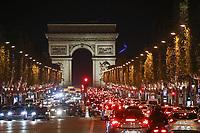 INAUGURATION DES ILLUMINATIONS DE NOEL DES CHAMPS-ELYSEES A PARIS, FRANCE, LE 22/11/2017.