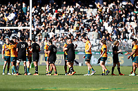 5th September 2021; Optus Stadium, Perth, Australia: Bledisloe Cup international rugby, Australia versus New Zealand; Players shake hands after the match