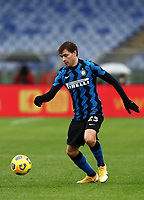 Football, Serie A: AS Roma -  FC Internazionale Milano, Olympic stadium, Rome, January 10, 2021. <br /> Inter's Nicolò Barella in action during the Italian Serie A football match between Roma and Inter at Rome's Olympic stadium, on January 10, 2021.  <br /> UPDATE IMAGES PRESS/Isabella Bonotto