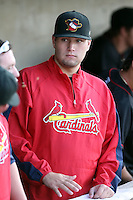 August 16 2008:  Pitcher Lance Lynn of the Quad Cities River Bandits, Class-A affiliate of the St. Louis Cardinals, during a game at Pohlman Field in Beloit, WI.  Photo by:  Mike Janes/Four Seam Images