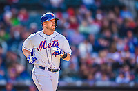 20 April 2013: New York Mets catcher John Buck in action against the Washington Nationals at Citi Field in Flushing, NY. The Mets fell to the visiting Nationals 7-6, tying their 3-game weekend series at one a piece. Mandatory Credit: Ed Wolfstein Photo *** RAW (NEF) Image File Available ***