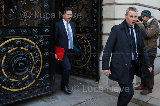 George Osborne (Chancellor of the Exchequer).<br /> <br /> London, 05/02/2013. Today, Joe Biden, Vice President of the United States, visited 10 Downing Street where he met with the British Prime Minister David Cameron and the Deputy Prime Minister Nick Clegg.