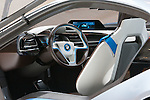 """December 30, 2011, Tokyo, Japan - The interior of BMW's """"i8 Concept"""" car is displayed at the 42nd Tokyo Motor Show. The show opens to the general public from December 3-11. (Photo by Christopher Jue/AFLO)"""