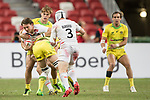 Australia vs England, the Bronze Final of Day 2 of the HSBC Singapore Rugby Sevens as part of the World Rugby HSBC World Rugby Sevens Series 2016-17 at the National Stadium on 16 April 2017 in Singapore. Photo by Victor Fraile / Power Sport Images