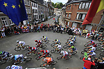 The peloton winds its way through Theux during Stage 1 of the 99th edition of the Tour de France, running 198km from Liege to Seraing, Belgium. 1st July 2012.<br /> (Photo by Eoin Clarke/NEWSFILE)