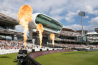 Pyrotechnics at Lords as a boundary is hit during London Spirit Women vs Trent Rockets Women, The Hundred Cricket at Lord's Cricket Ground on 29th July 2021