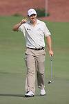 Padraig Harrington smiles after sinking a birdie putt on the 8th gren during  Day 2 at the Dubai World Championship Golf in Jumeirah, Earth Course, Golf Estates, Dubai  UAE, 20th November 2009 (Photo by Eoin Clarke/GOLFFILE)