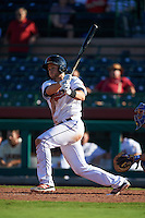 Scottsdale Scorpions outfielder Todd Hankins (25) at bat during an Arizona Fall League game against the Surprise Saguaros on October 22, 2015 at Scottsdale Stadium in Scottsdale, Arizona.  Surprise defeated Scottsdale 7-6.  (Mike Janes/Four Seam Images)
