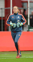 20151007 - LIEGE , BELGIUM : Frankfurt's Anke Preuss pictured during the female soccer match between STANDARD Femina de Liege and 1. FFC Frankfurt , in the 1/16 final ( round of 32 ) first leg in the UEFA Women's Champions League 2015 in stade Maurice Dufrasne - Sclessin in Liege. Wednesday 7 October 2015 . PHOTO DAVID CATRY