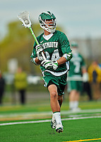 24 April 2012: Dartmouth College Big Green attacker Brendan Rotanz, a Sophomore from Westport, CT, in action against the University of Vermont Catamounts at Virtue Field in Burlington, Vermont. The Big Green defeated the Catamounts 10-5 in Men's Varsity Lacrosse action. Mandatory Credit: Ed Wolfstein Photo