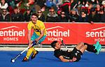 during the Trans Tasman Hockey match between the New Zealand Blacksticks Men and the Australian Kookaburras, Massey University Hockey Turf, Palmerston North, New Zealand. Sunday 30 May 2021 Photo: Simon Watts/www.bwmedia.co.nz