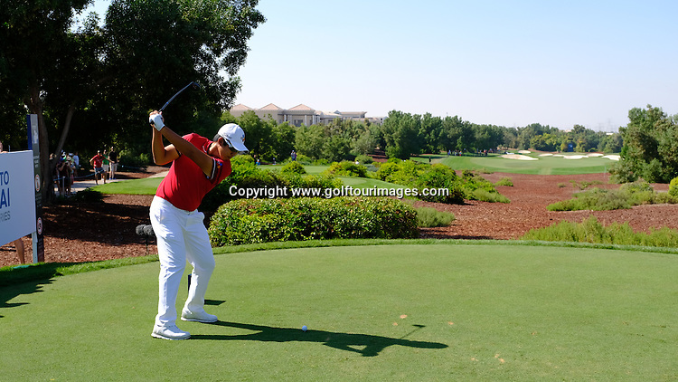 Byeong HUN-AN (KOR) during round two of the 2016 DP World Tour Championships played over the Earth Course at Jumeirah Golf Estates, Dubai, UAE: Picture Stuart Adams, www.golftourimages.com: 11/18/16